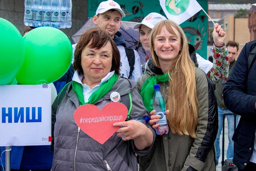 """""""슈마코브스카야""""사는 """"10 만 걸음 생활""""이라는 전 러시아 캠페인에 참여했습니다."""